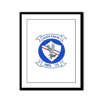 MAWFAS115 - M01 - 02 - Marine Fighter Attack Squadron 115 (VMFA-115) - Framed Panel Print