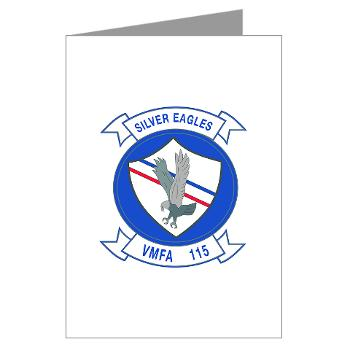 MAWFAS115 - M01 - 02 - Marine Fighter Attack Squadron 115 (VMFA-115) - Greeting Cards (Pk of 20)