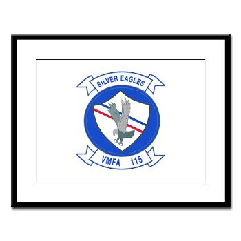 MAWFAS115 - M01 - 02 - Marine Fighter Attack Squadron 115 (VMFA-115) - Large Framed Print