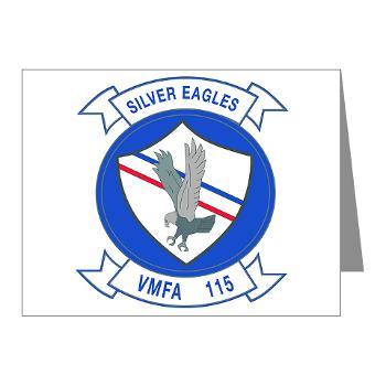 MAWFAS115 - M01 - 02 - Marine Fighter Attack Squadron 115 (VMFA-115) - Note Cards (Pk of 20)