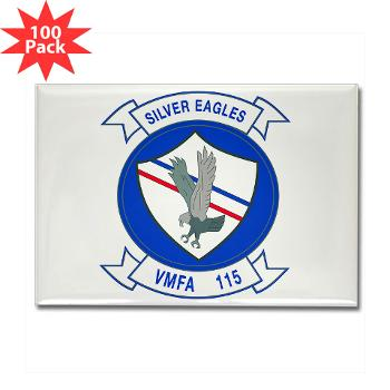 MAWFAS115 - M01 - 01 - Marine Fighter Attack Squadron 115 (VMFA-115) - Rectangle Magnet (100 pack)