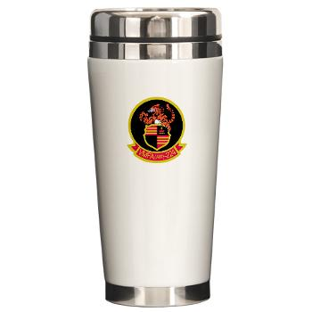 MAWFAS224 - M01 - 03 - Marine All Weather Fighter Attack Squadron 224 (VMFA(AW)-224) - Ceramic Travel Mug