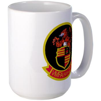 MAWFAS224 - M01 - 03 - Marine All Weather Fighter Attack Squadron 224 (VMFA(AW)-224) - Large Mug