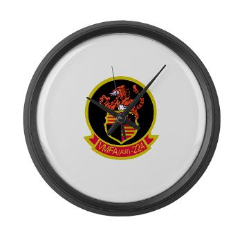MAWFAS224 - M01 - 03 - Marine All Weather Fighter Attack Squadron 224 (VMFA(AW)-224) - Large Wall Clock