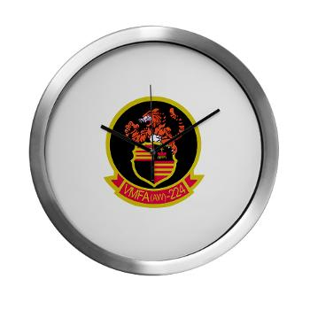 MAWFAS224 - M01 - 03 - Marine All Weather Fighter Attack Squadron 224 (VMFA(AW)-224) - Modern Wall Clock