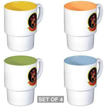 MAWFAS224 - M01 - 03 - Marine All Weather Fighter Attack Squadron 224 (VMFA(AW)-224) - Stackable Mug Set (4 mugs)