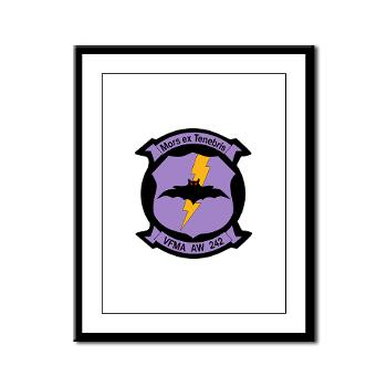 MAWFAS242 - M01 - 02 - Marine All- Weather Fighter Attack Squadron 242 Framed Panel Print