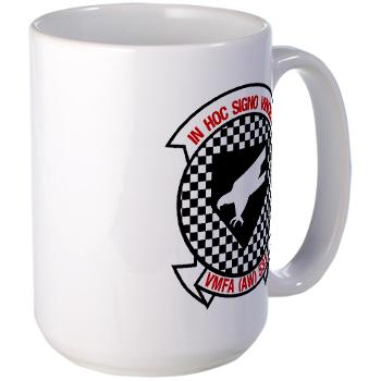 MAWFAS553 - M01 - 03 - Marine All Weather Fighter Attack Squadron 553 (VMFA(AW)-553) - Large Mug