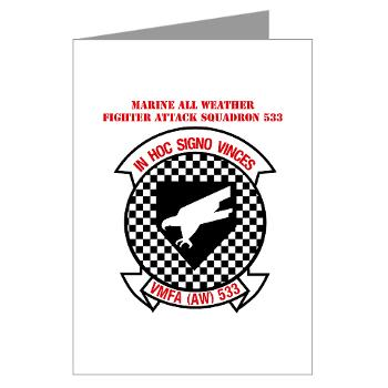 MAWFAS553 - M01 - 02 - Marine All Weather Fighter Attack Squadron 553 (VMFA(AW)-553) with Text - Greeting Cards (Pk of 10)
