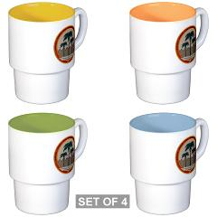 MCAGCCTP - M01 - 03 - Marine Corps Air Ground Combat Center Twentynine Palms - Stackable Mug Set (4 mugs)