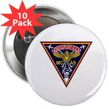 "MCASB - M01 - 01 - Marine Corps Air Station Beaufort - 2.25"" Button (10 pack)"
