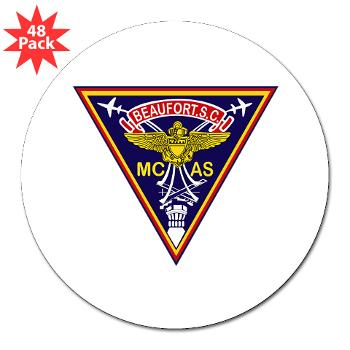 "MCASB - M01 - 01 - Marine Corps Air Station Beaufort - 3""Lapel Sticker (48 pk)"