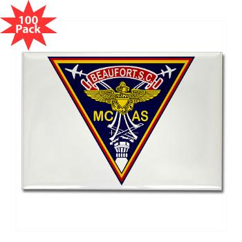 MCASB - M01 - 01 - Marine Corps Air Station Beaufort - Rectangle Magnet (100 pack)