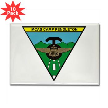 MCASCP - M01 - 01 - MCAS Camp Pendleton - Rectangle Magnet (10 pack)