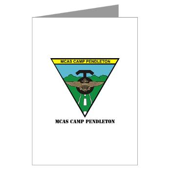 MCASCP - M01 - 02 - MCAS Camp Pendleton with Text - Greeting Cards (Pk of 10)