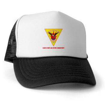 MCASCP - A01 - 02 - Marine Corps Air Station Cherry Point with Text - Trucker Hat