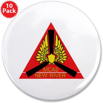 "MCASNR - M01 - 01 - Marine Corps Air Station New River - 3.5"" Button (10 pack)"