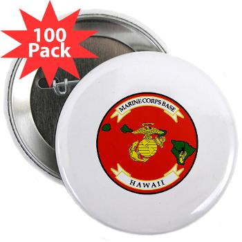 "MCBH - M01 - 01 - Marine Corps Base Hawaii - 2.25"" Button (100 pack)"