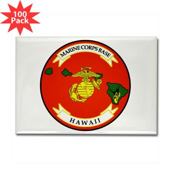 MCBH - M01 - 01 - Marine Corps Base Hawaii - Rectangle Magnet (100 pack)