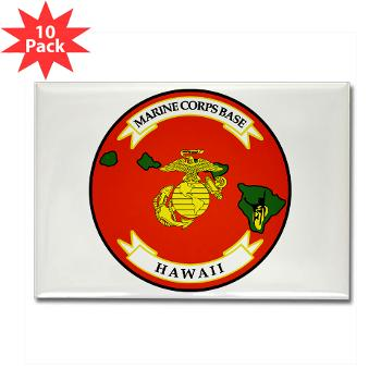 MCBH - M01 - 01 - Marine Corps Base Hawaii - Rectangle Magnet (10 pack)