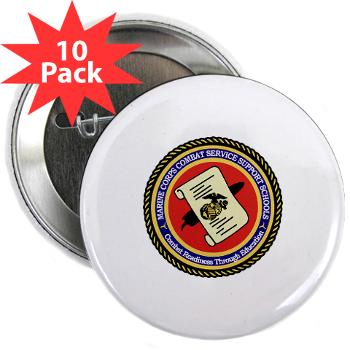 "MCCSSS - M01 - 01 - Marine Corps Combat Service Support Schools - 2.25"" Button (10 pack)"