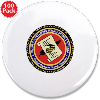 "MCCSSS - M01 - 01 - Marine Corps Combat Service Support Schools - 3.5"" Button (100 pack)"