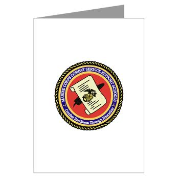MCCSSS - M01 - 02 - Marine Corps Combat Service Support Schools - Greeting Cards (Pk of 10)