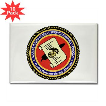 MCCSSS - M01 - 01 - Marine Corps Combat Service Support Schools - Rectangle Magnet (10 pack)