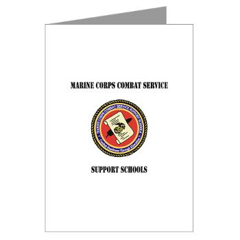 MCCSSS - M01 - 02 - Marine Corps Combat Service Support Schools with Text - Greeting Cards (Pk of 10)
