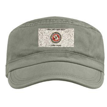 MCCSSS - A01 - 01 - Marine Corps Combat Service Support Schools with Text - Military Cap