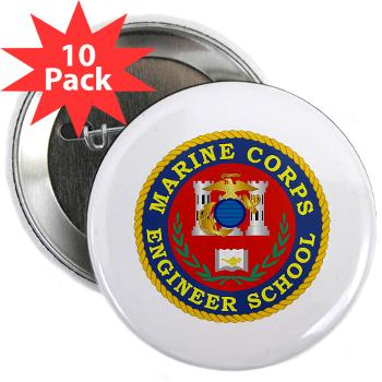 "MCES - M01 - 01 - Marine Corps Engineer School - 2.25"" Button (10 pack)"