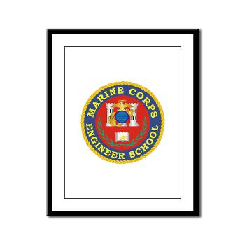 MCES - M01 - 02 - Marine Corps Engineer School - Framed Panel Print