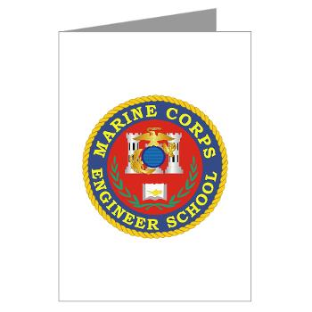 MCES - M01 - 02 - Marine Corps Engineer School - Greeting Cards (Pk of 20)