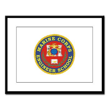 MCES - M01 - 02 - Marine Corps Engineer School - Large Framed Print