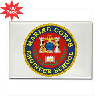 MCES - M01 - 01 - Marine Corps Engineer School - Rectangle Magnet (100 pack)