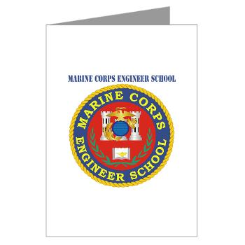 MCES - M01 - 02 - Marine Corps Engineer School with Text - Greeting Cards (Pk of 10)