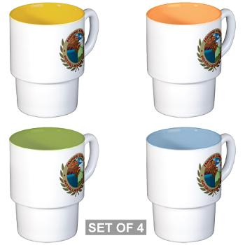 MCIW - M01 - 03 - Marine Corps Installations West - Stackable Mug Set (4 mugs)