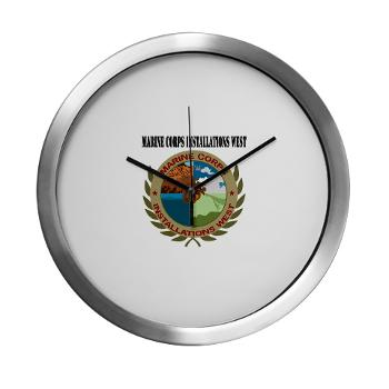 MCIW - M01 - 03 - Marine Corps Installations West wit Text - Modern Wall Clock