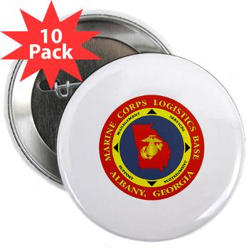 "MCLBA - M01 - 01 - Marine Corps Logistics Base Albany - 2.25"" Button (10 pack)"