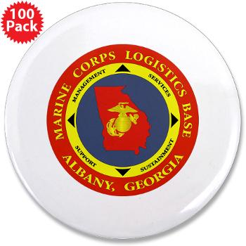 "MCLBA - M01 - 01 - Marine Corps Logistics Base Albany - 3.5"" Button (100 pack)"