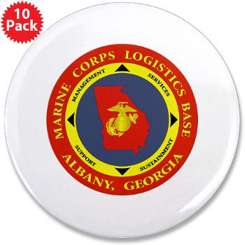 "MCLBA - M01 - 01 - Marine Corps Logistics Base Albany - 3.5"" Button (10 pack)"