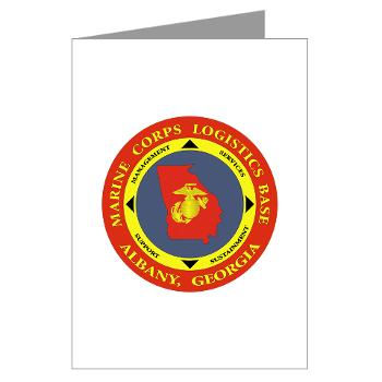 MCLBA - M01 - 02 - Marine Corps Logistics Base Albany - Greeting Cards (Pk of 20)