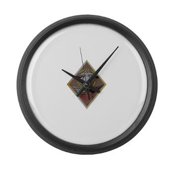 MCLBB - M01 - 03 - Marine Corps Logistics Base Barstow - Large Wall Clock