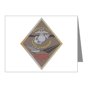MCLBB - M01 - 02 - Marine Corps Logistics Base Barstow - Note Cards (Pk of 20)