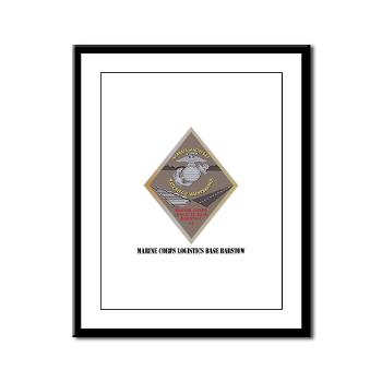 MCLBB - M01 - 02 - Marine Corps Logistics Base Barstow with Text - Framed Panel Print