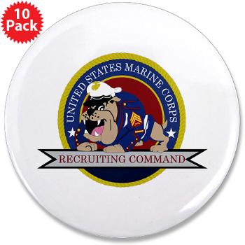 "MCRC - M01 - 01 - Marine Corps Recruiting Command - 3.5"" Button (10 pack)"