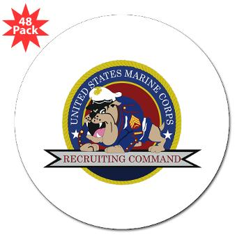 "MCRC - M01 - 01 - Marine Corps Recruiting Command - 3"" Lapel Sticker (48 pk)"
