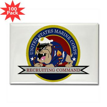 MCRC - M01 - 01 - Marine Corps Recruiting Command - Rectangle Magnet (100 pack)