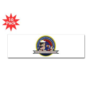 MCRC - M01 - 01 - Marine Corps Recruiting Command - Sticker (Bumper 10 pk)