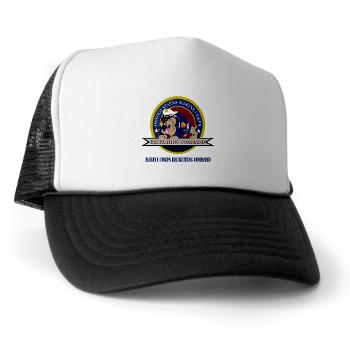 MCRC - A01 - 02 - Marine Corps Recruiting Command with Text - Trucker Hat